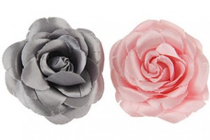 Silk Rose Hairclips ($2.50, Forever 21)