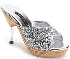 Silver Glitter Polly Shoe ($220, Betsey Johnson)