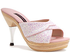 Pink Glitter Polly Shoe ($220, Betsey Johnson)