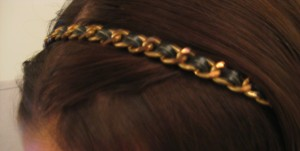Gold chain hairband