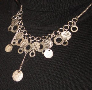Silver coin necklace, Author's own