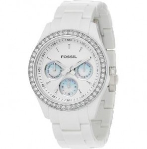 Multifunction Glitz White Dial Watch ($95, Fossil)