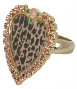 Pink Gem Leopard Ring