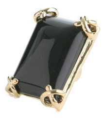 Rectangle Gem Ring ($8, Wet Seal)