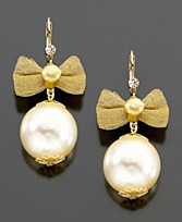 Betsey Johnson Bow Earrings ($25, Macy's)
