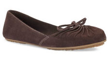 Dreena Stretch Flat Light Dark Brown Suede ($49.99, Timberland)