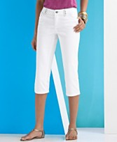 INc International Concepts Studded Trim White Capri Jeans ($49.99, Macy's)
