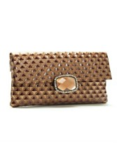 Jessica McClintock Pleather Fold Over Stone Clutch ($40, Macy's)