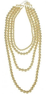 Multi Strand Metallic Bead Necklace ($9.80, Forever 21)