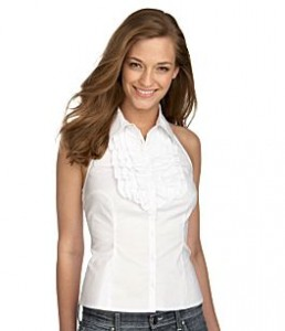 Rampage Ruffled Woven Halter Top ($34, Dillards)