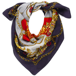 silk square scarf headwrapsblack oriental figures print on now designs Silk Scarves Oriental Designs