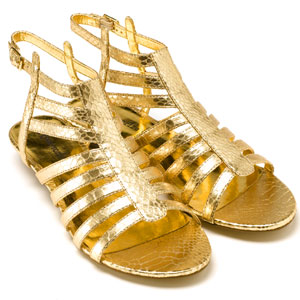 Reptile Look Metallic Snake Gladiator Sandals (£28.00, Accessorize)