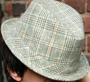 Unisex Fedora Hat - Green Plaid ($21.99, www.viciousstyle.com)