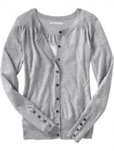 Womens Pointelle Trim Cardigan - Heather Gray ($26.50, Old Navy)