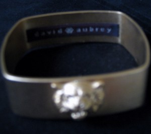 David Aubrey Gold Tiger Bracelet, Writer's Own