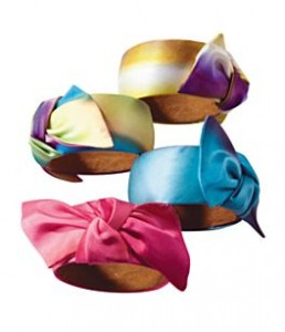 Natasha Accessories Silk Tie Bangle Bracelet ($11.40, Dillards)