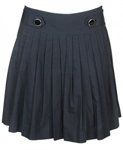 Pleated Button Tab Skirt ($19.80, Forever21)