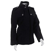 London Fog Cape-style Wool Blend Coat ($74.99, Burlington Coat Factory)