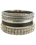 Fabulous Mix Bangle Set ($12.50, Wet Seal)
