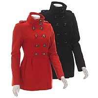 M60 Miss Sixty Woolen Military Peacoat with Pleats ($99.99, Burlington Coat Factory)