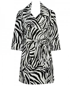 Zebra Trench Coat ($34.80, Forever21)