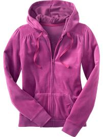 Women's Velour Zip Hoodie ($19.50, Old Navy)