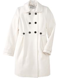 Women's White Wool-Blend Tab-Waist Coat ($89.50, Old Navy)