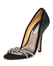 Badgley Mischka Halma Open Toe Pumps with Stone Detail ($215, Bloomingdales)