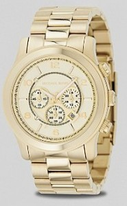 MICHAEL Michael Kors Oversized Chronograph Gold Watch 44MM ($250, Bloomingdales)