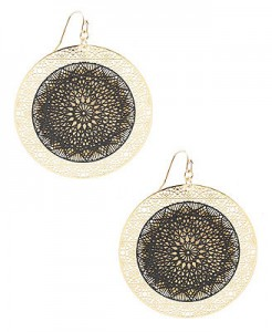 Riddled Disk Earrings ($4.80, Forever21)