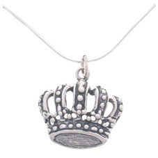 Sterling Silver Crown Pendant Necklace ($11.42, www.overstock.com)