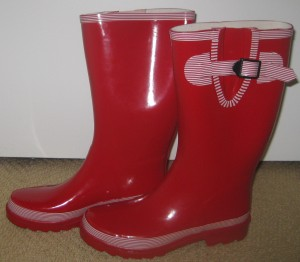 Red and White Rasolli Rainboots, Writer's Own