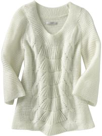 Women's Open-Weave Sweater, Marshmallow White ($34.50, Old Navy)