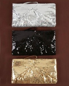 Beautiful Stranger Sequin Clutches ($17, www.lulus.com)