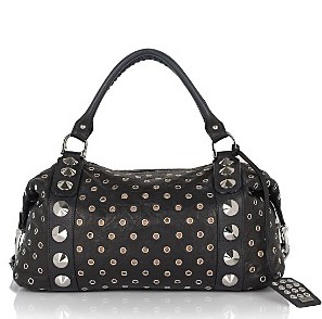 Be&D Garbo Lambskin Studded Grommet Satchel ($1,245.00, Bloomingdales)