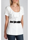 Belted Ruffle Blouse ($19.99, Charlotte Russe)