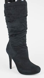 Gathered Suede High Heel Boot ($31.99, www.gojane.com)