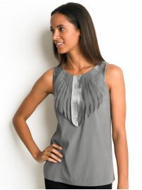 Silk Ribbon Pleated Shell ($69.50, Banana Republic)