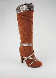 Stud Embellished Suede Finish Boot ($24.99, www.gojane.com)