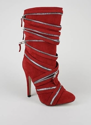 Suede Zipper High Heel Boot ($22.99, www.gojane.com)