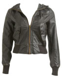 Faux Leather Hood Jacket ($42.50, Wet Seal)