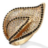 IMAN Global Chic IMAN Global Chic Shimmer & Shine Colorful Crystals Leaf Ring ($39.95, HSN)