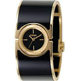 Lucy Black/Gold Analog ($95, Fossil)