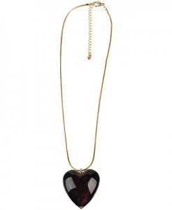 Puffed Heart Necklace ($5.80, Forever21)