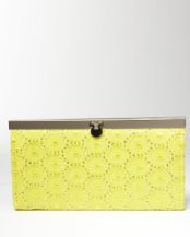 Crochet Metallic Clutch ($19, Bebe)