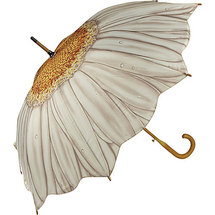 Galleria White Daisy Stick Umbrella ($24, Walmart)