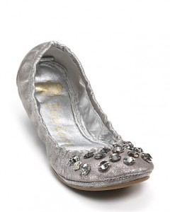 "Juicy Couture ""Ronie"" Studded Ballet Flats ($225, Bloomingdales)"