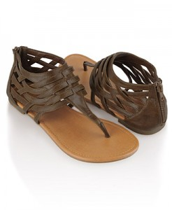 Leatherette Weave Sandals ($16.80, Forever21)