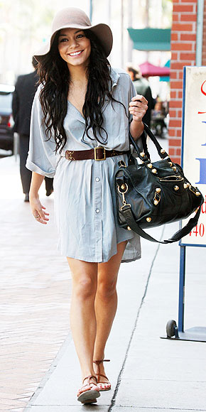 Vanessa Hudgens: Transforming a Shirtdress from Drab to Fab