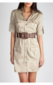 Belted Safari Dress ($26, Charlotte Russe)